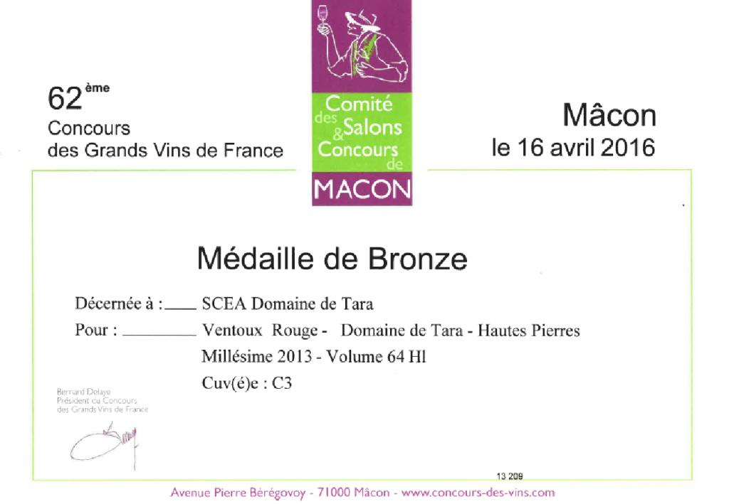 MACON BRONZE HPR 2013